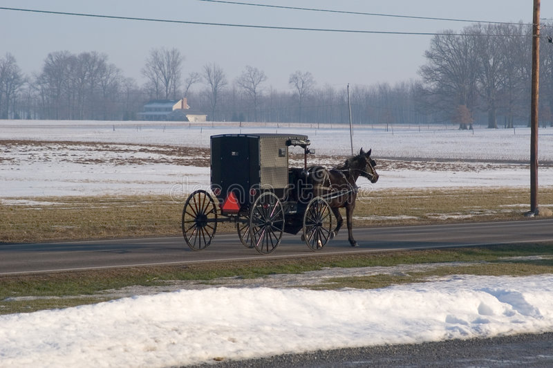 Amischer Transport stockbild
