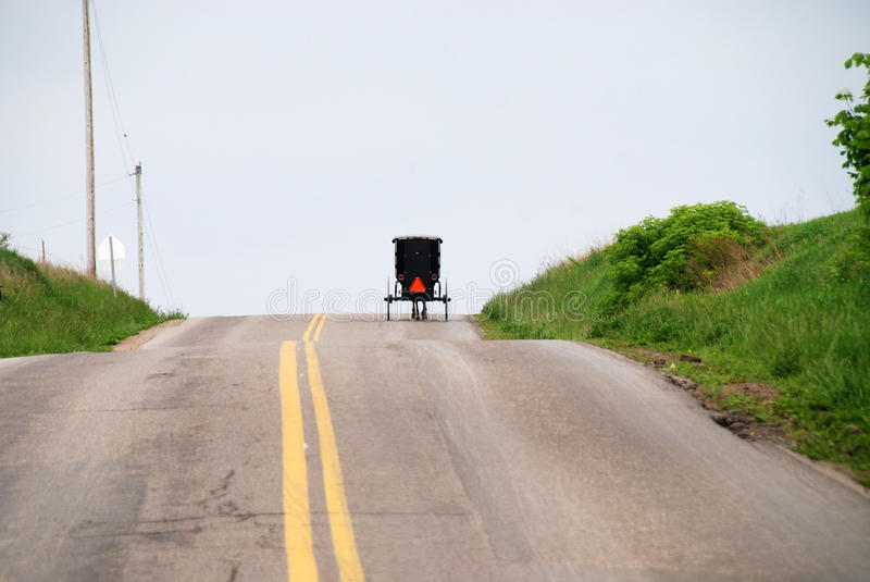 Amish. Horse –drawn buggy of the Amish in Berlin, Ohio stock photos