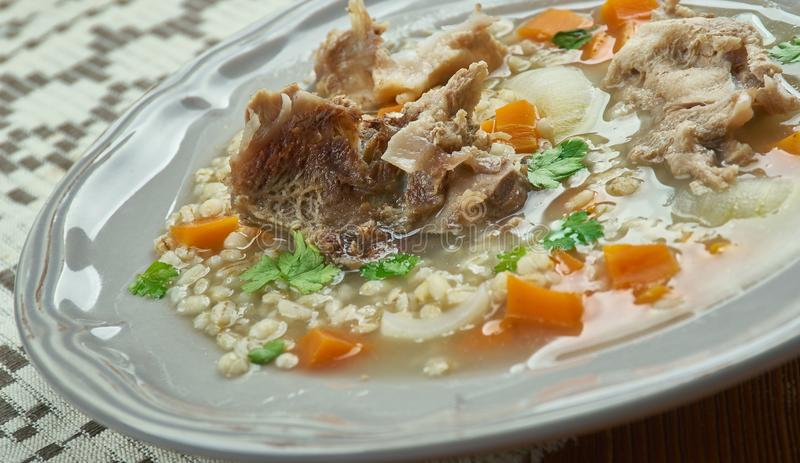 Amish Beef Barley Soup stock photos