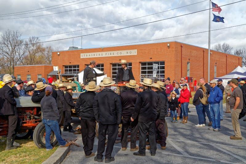 Amish Borowinowa sprzedaż Korzystać Pożarniczej firmy obraz royalty free