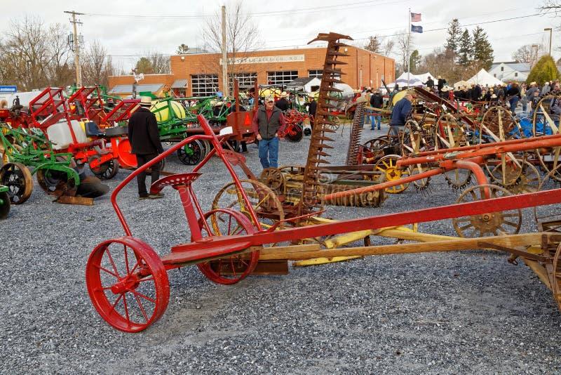 Amish Borowinowa sprzedaż Korzystać Pożarniczej firmy zdjęcie stock