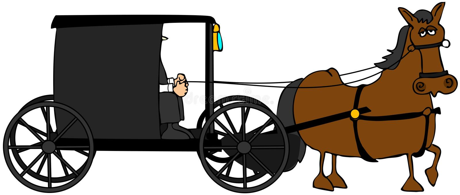 Amish Buggy vector illustration