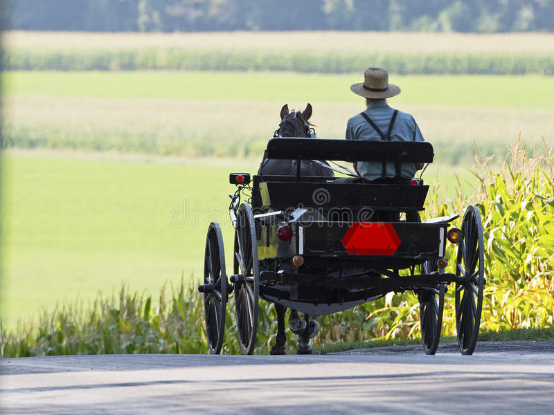 Amish Buggy. Amish Horse and Buggy Lancaster County Pennsylvania royalty free stock photography