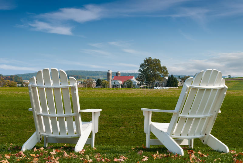 Download Amish Country Adirondack Chairs Stock Photo - Image: 22511722