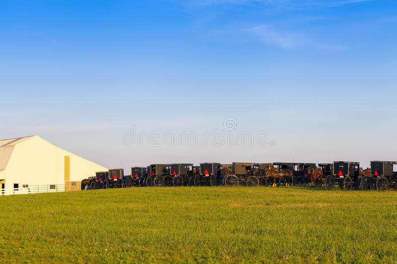 Amish Country. With Blue Sky stock image