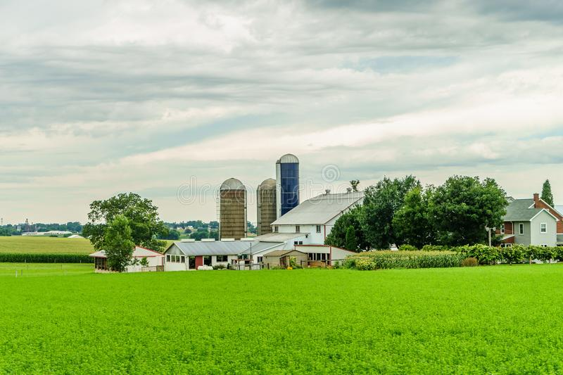 Amish country farm barn field agriculture in Lancaster, PA. Amish country farm barn field agriculture in Lancaster PA US stock photos