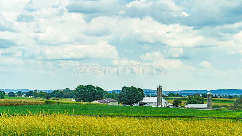 Amish country farm barn field agriculture in Lancaster, PA US. Amish country farm barn field agriculture in Lancaster, PA royalty free stock images
