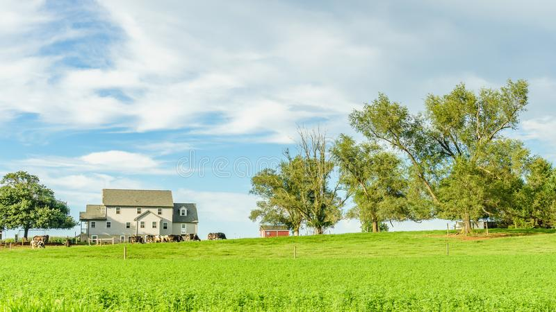 Amish country farm barn field agriculture in Lancaster, PA. Amish country farm barn field agriculture in Lancaster PA US royalty free stock photos