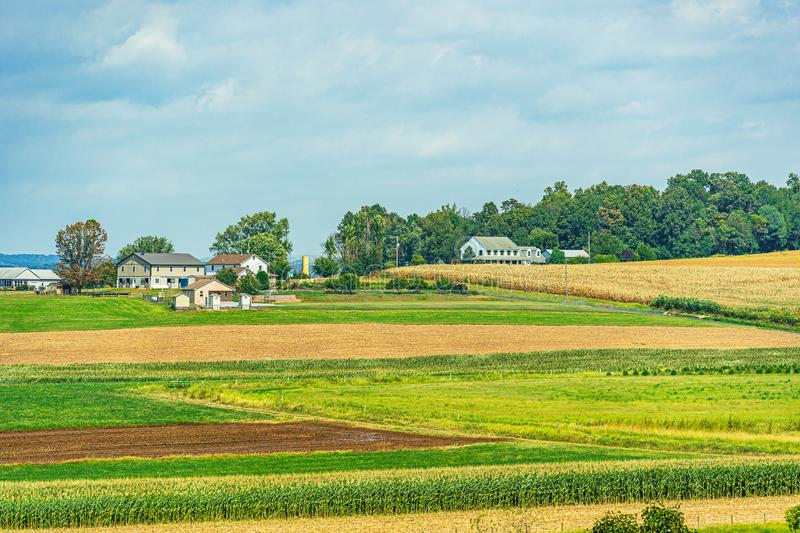 Amish country farm barn field agriculture in Lancaster, PA US. Amish country farm barn field agriculture in Lancaster, PA stock photography