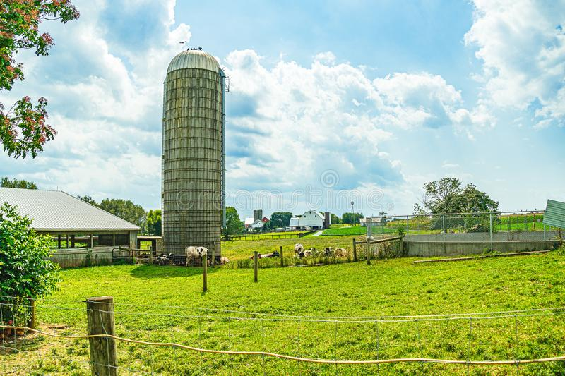 Amish country farm barn field agriculture in Lancaster, PA US. Amish country farm barn field agriculture in Lancaster, PA stock photos