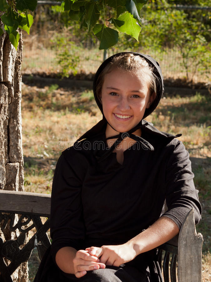 Amish dziewczyna obrazy stock