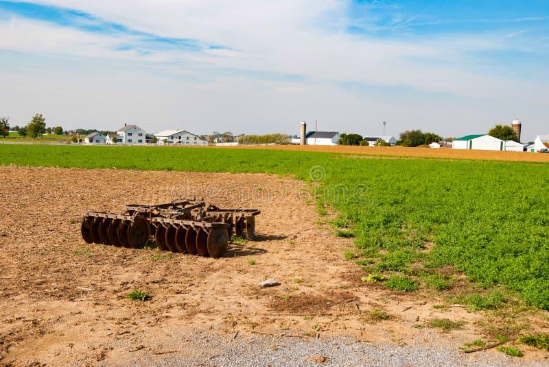 Amish Farm Equipment. On a Sunny Summer Day royalty free stock photos