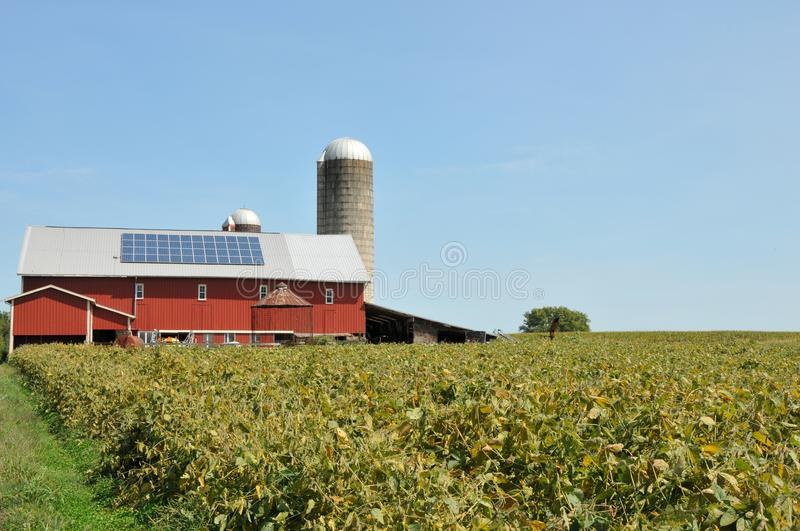 Amish Farm. Large red barn, part of an Amish Farm in Lancaster County, PA royalty free stock image