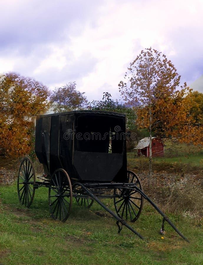 Amish furgon fotografia royalty free