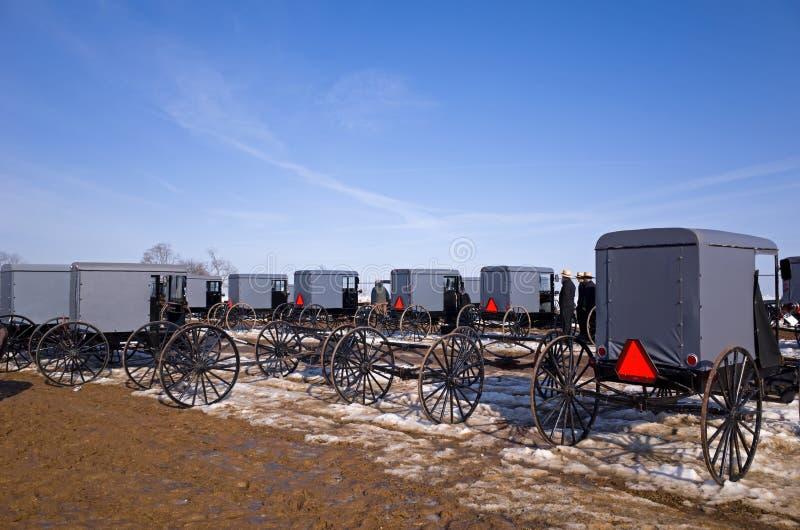 Amish fury i powoziki zdjęcia stock