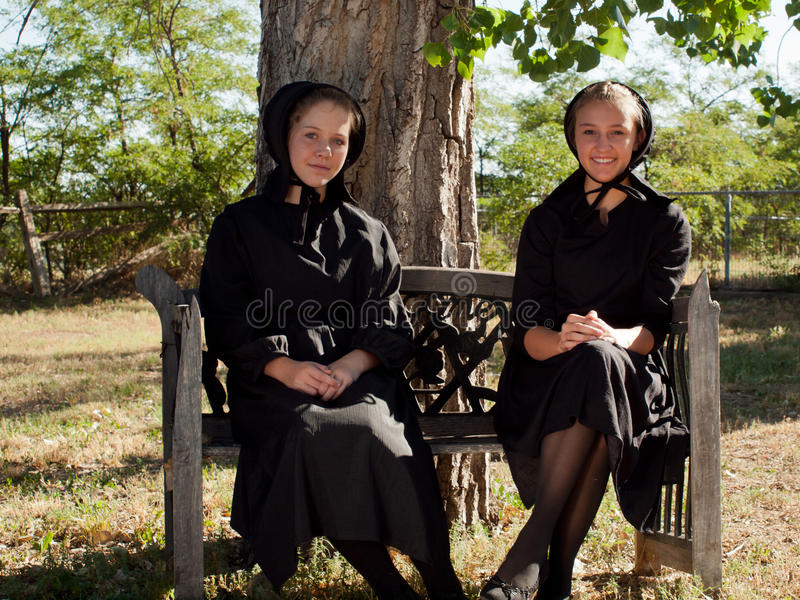 Amish Girls royalty free stock photography