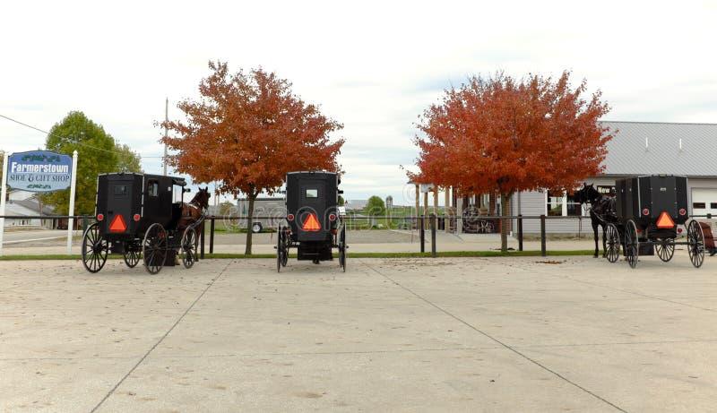 Amish kraj jest mieszanką przeszłość i teraźniejszość w Ohio zdjęcia royalty free