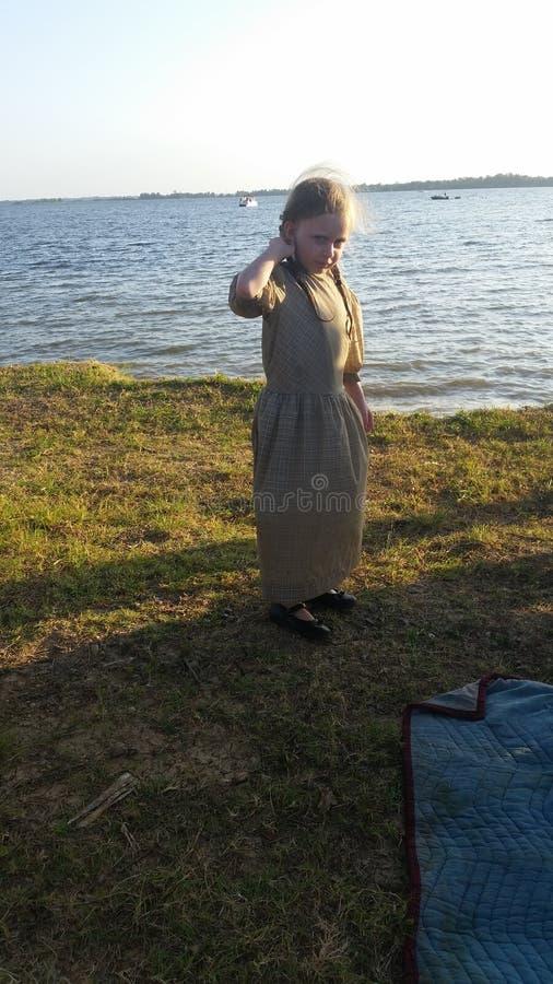Amish. Lake summer amish july royalty free stock photo