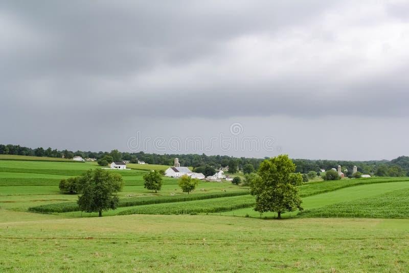 Amish land, Pennsylvania arkivfoton