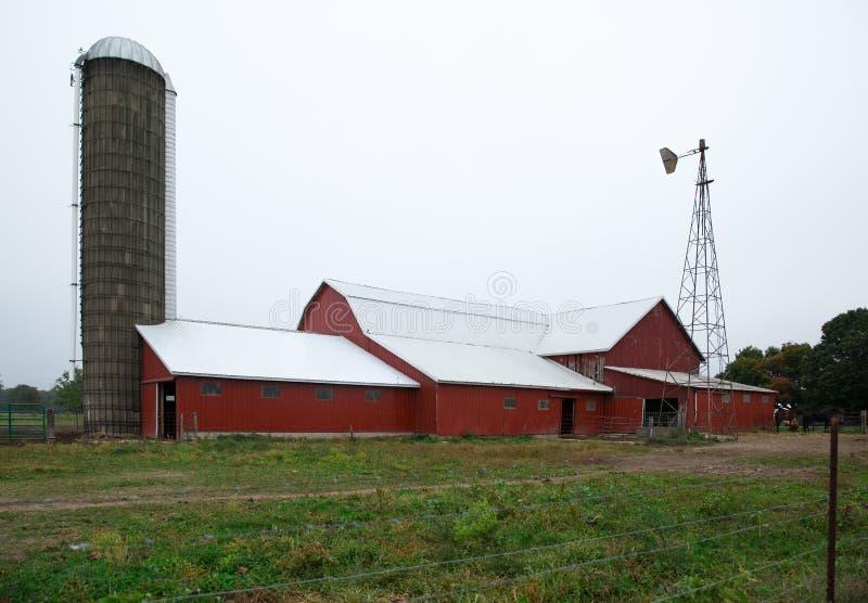 Amish Landbouwgemeenschap stock foto's