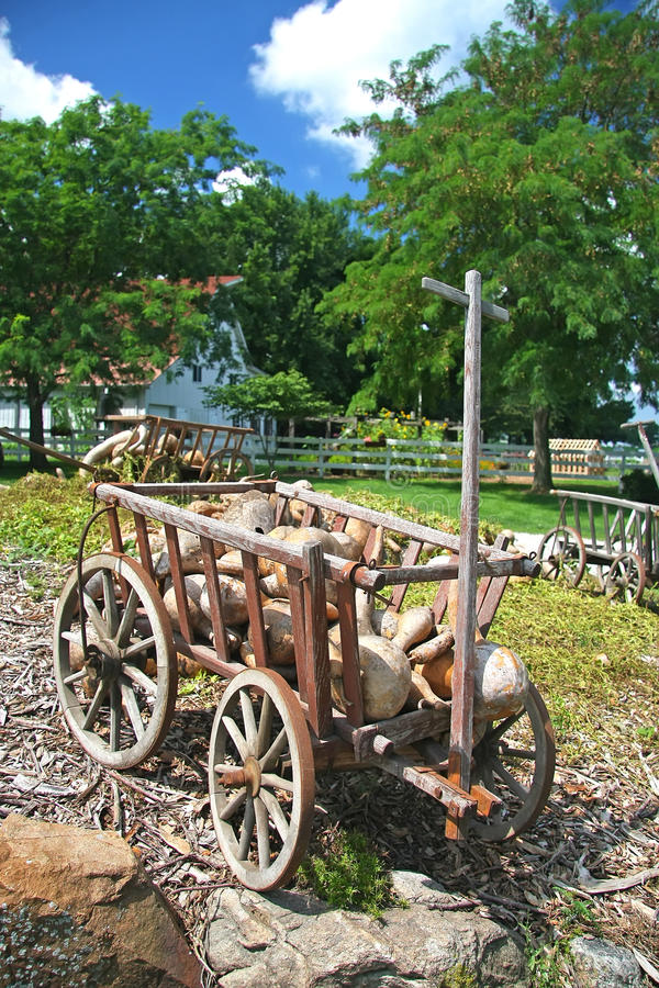 Amish lantgård royaltyfria bilder