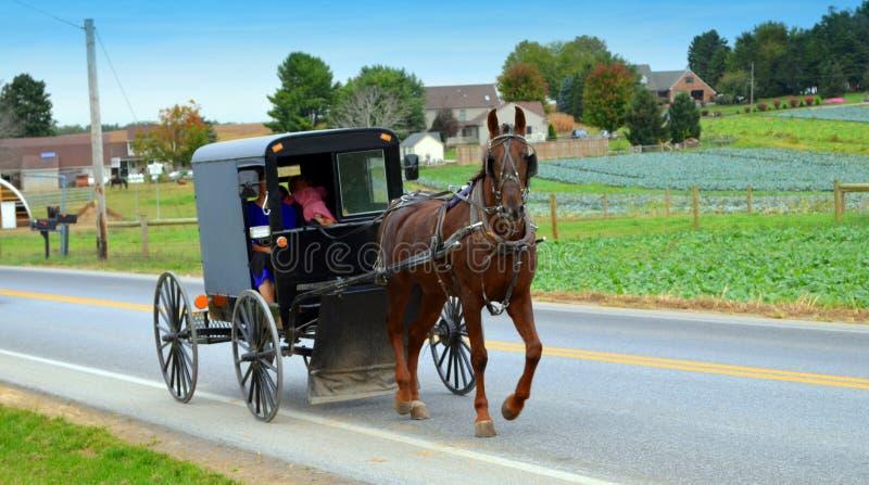 Amish ludzie obraz stock