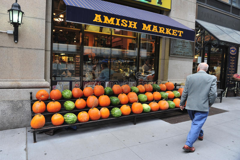 Amish Market in Manhattan New York City. NYC - OCT 15:Pumping on display at the Amish food Marketplace in TriBeCa New York, NY on October 15 2009 during stock image