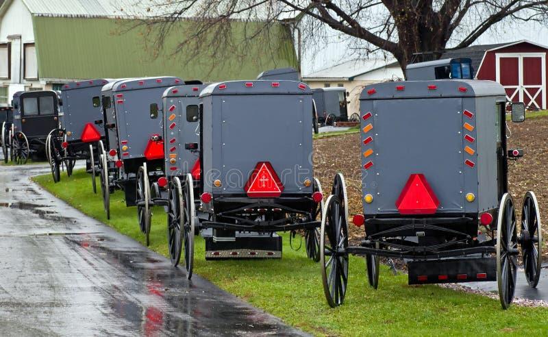 Amish parking obrazy royalty free