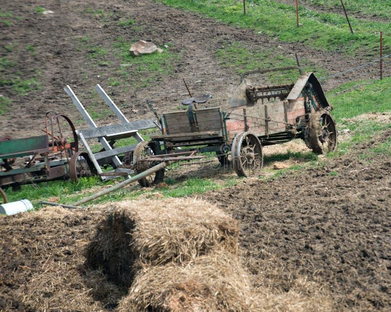 Amish rolnego konia rysujący wyposażenie zdjęcie royalty free