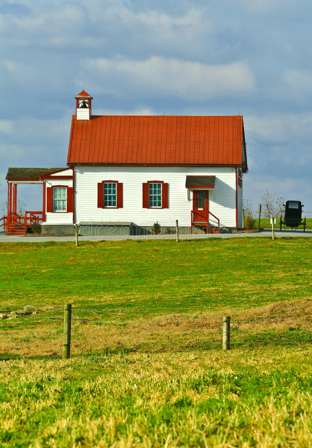 Amish School House. In Lancasater County, Pennsylvania royalty free stock image