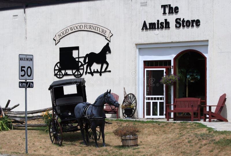 Amish-Speicher in Balderson lizenzfreie stockfotografie