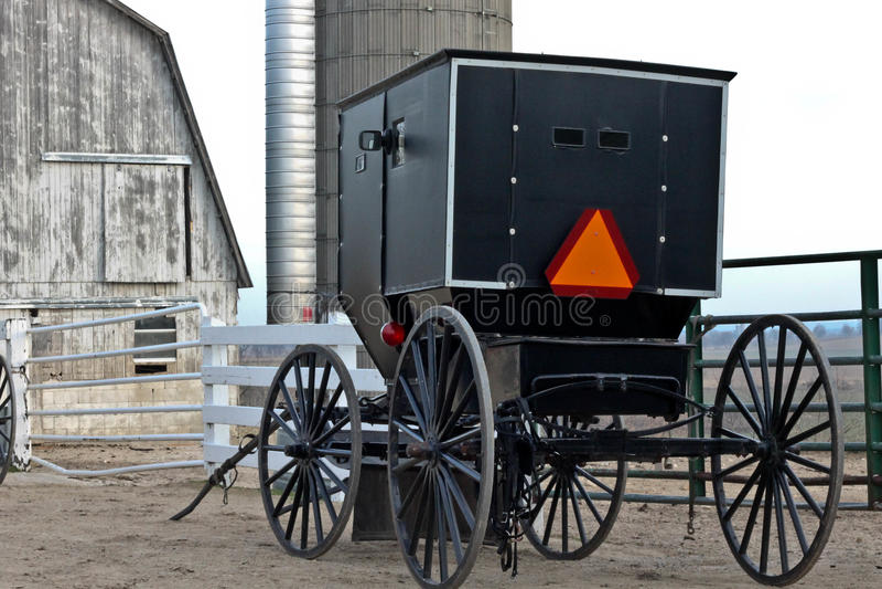 Amish trans. arkivfoto