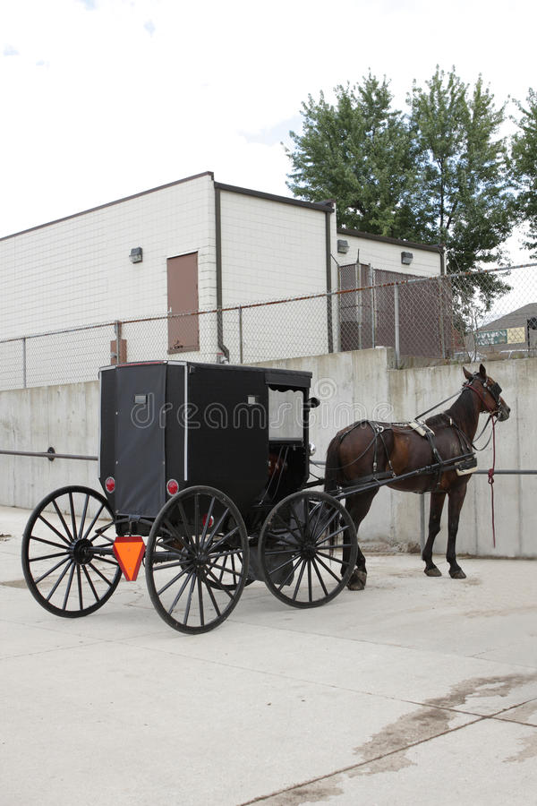Amish transportation stock photography