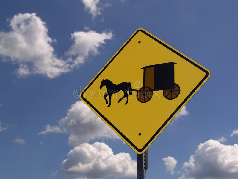 amish varning arkivfoto