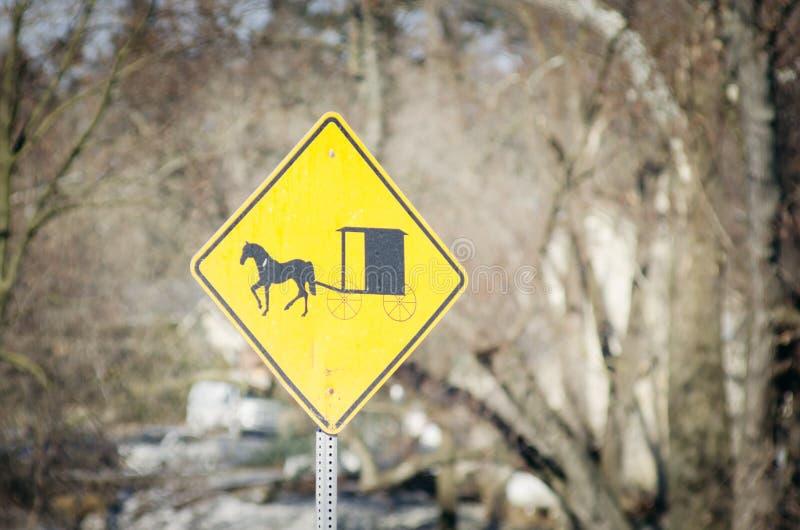 amish varning arkivfoton