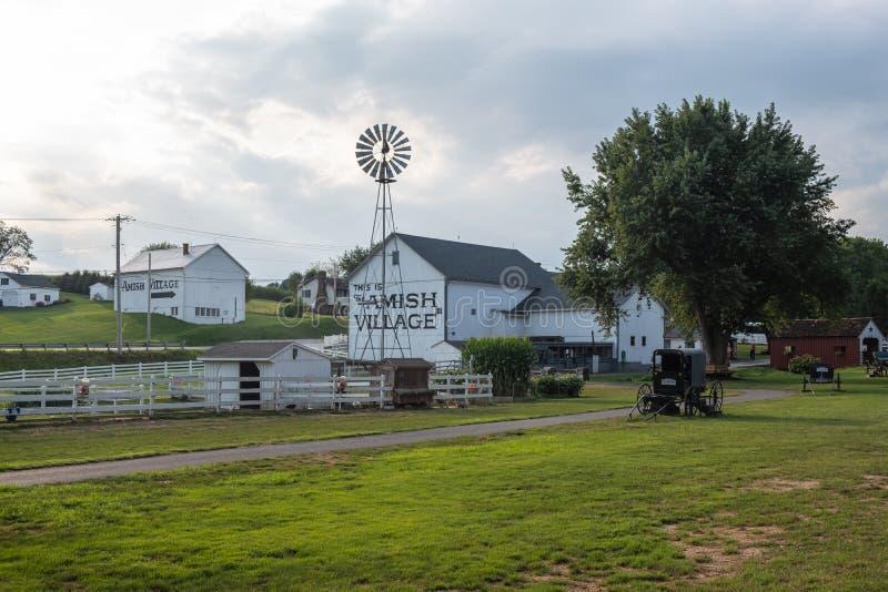 Amish Village building, Pennsylvania stock photo