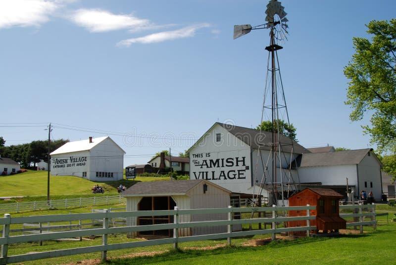 Amish Village in Strasburg, Pennsylvania stock photos