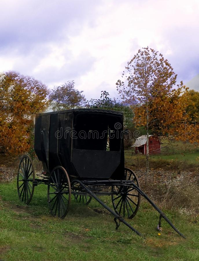 Amish Wagon. Old Amish Wagon in Milton WV royalty free stock photography