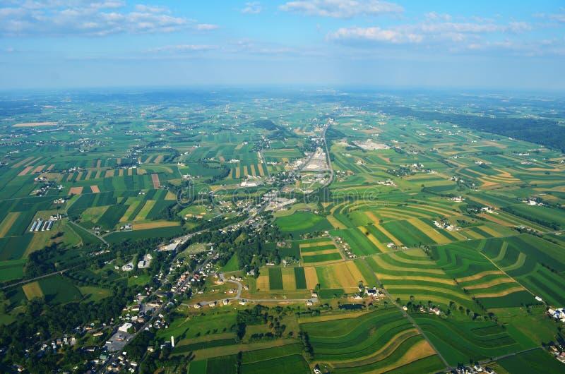 Amishlandbouwgrond van Pennsylvania royalty-vrije stock afbeeldingen