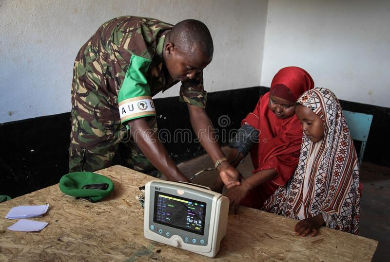 2013_08_19_AMISOM_Sector_Two_Health_Clinic_010 stock photo