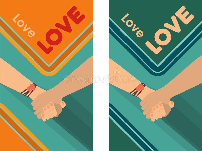 Amistad del amor de la paz libre illustration
