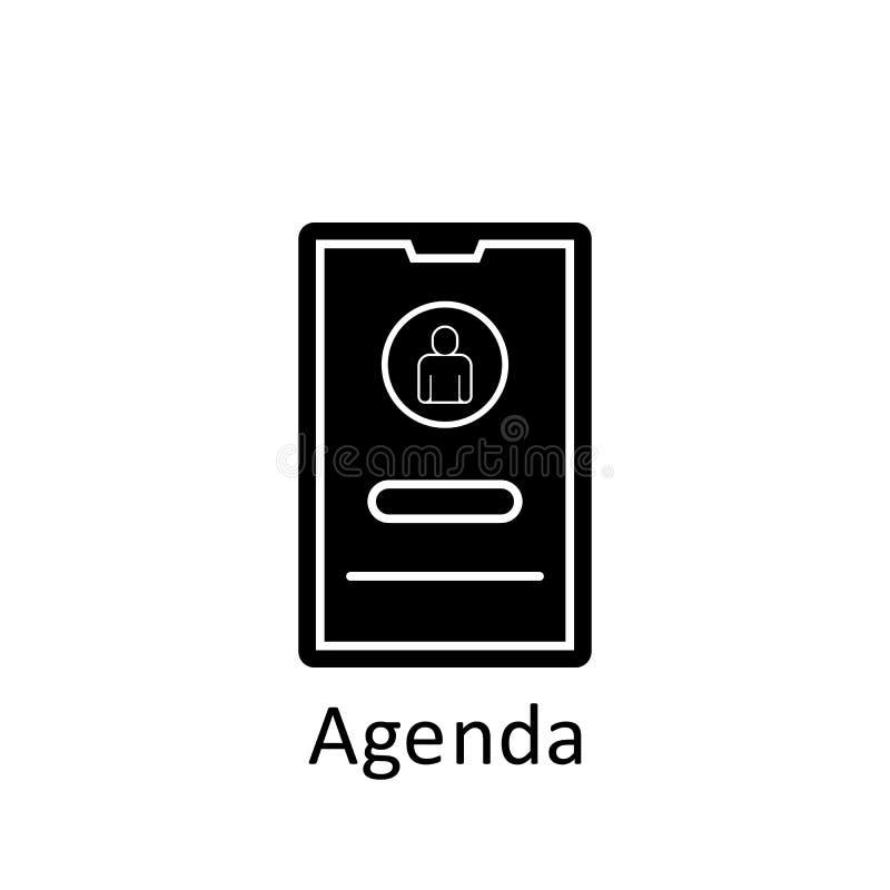 Amistad, icono de agenda Icono de elemento de amistad Icono de diseño gráfico de primera calidad Icono de colección de signos y s stock de ilustración