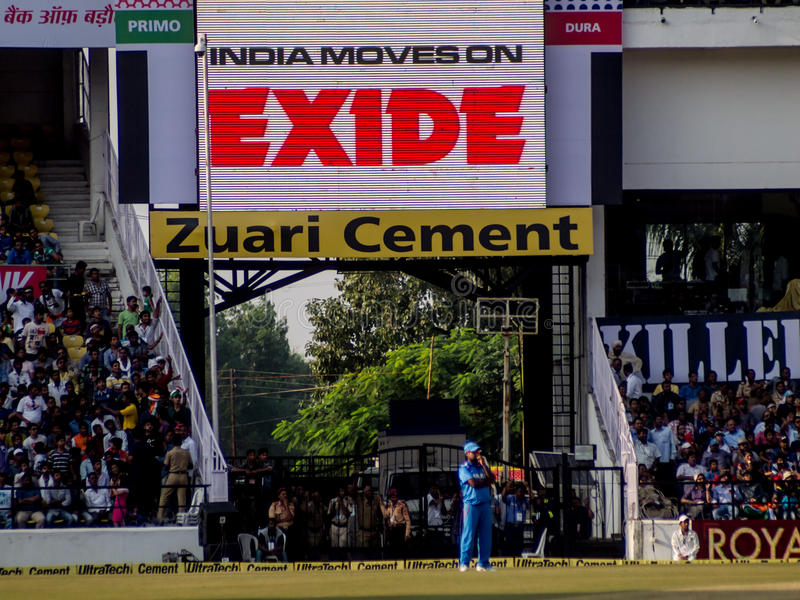 Amit Mishra Cricketer royaltyfri foto