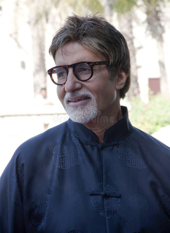 Amitabh Bachchan conosciuto come la GRANDE B in Doubai per DIFF immagini stock libere da diritti