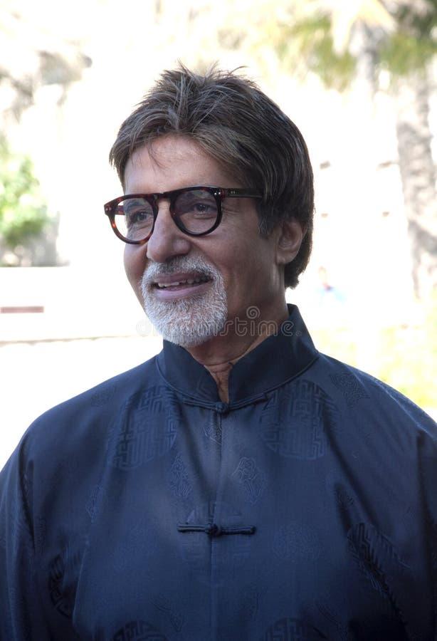 Amitabh Bachchan em DIFF em Dubai fotos de stock royalty free