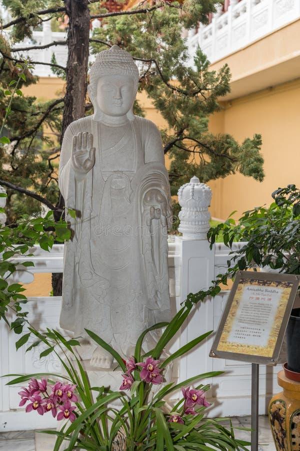 Amitabha Buda en su Lai Buddhist Temple, California foto de archivo libre de regalías