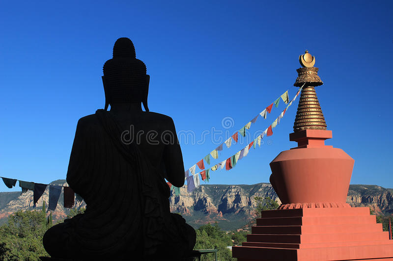 Amitabha Stupa, Sedona, AZ royaltyfri foto