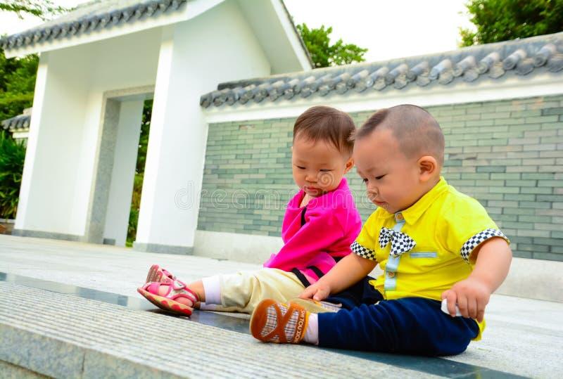 Amitié d'enfance photographie stock libre de droits