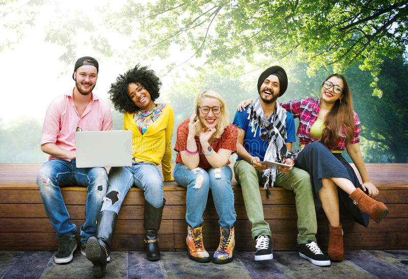 Amitié Team Concept d'amis d'adolescents de diversité image libre de droits