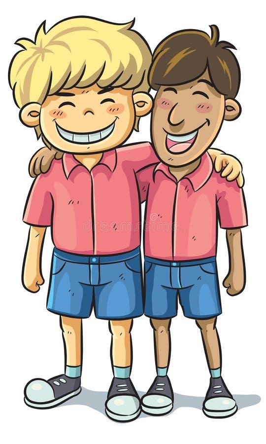 Amizade ilustração royalty free